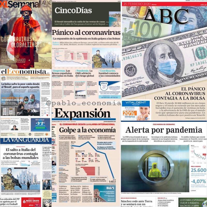 Panico en Prensa Economica y Generalista. Panico Bursatil