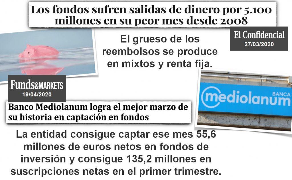 Fondos sufren salidas de dinero por 5.100 millones de euros en su peor mes desde 2008